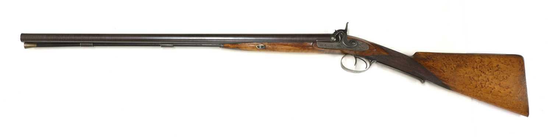 A 12-bore double-barrelled percussion shotgun, - Image 6 of 7