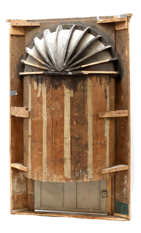 A large George III painted pine corner cupboard, - Image 3 of 3