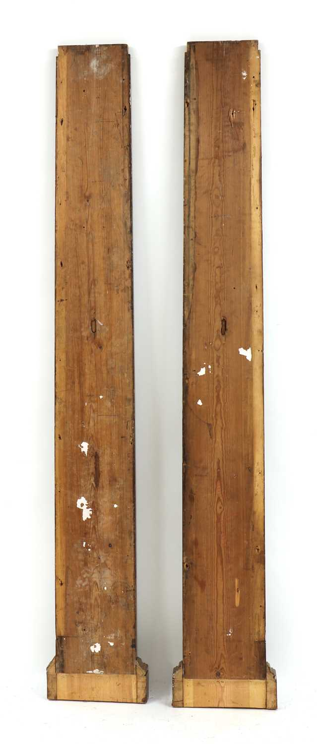 A pair of fluted pitch pine pilasters, - Image 5 of 10