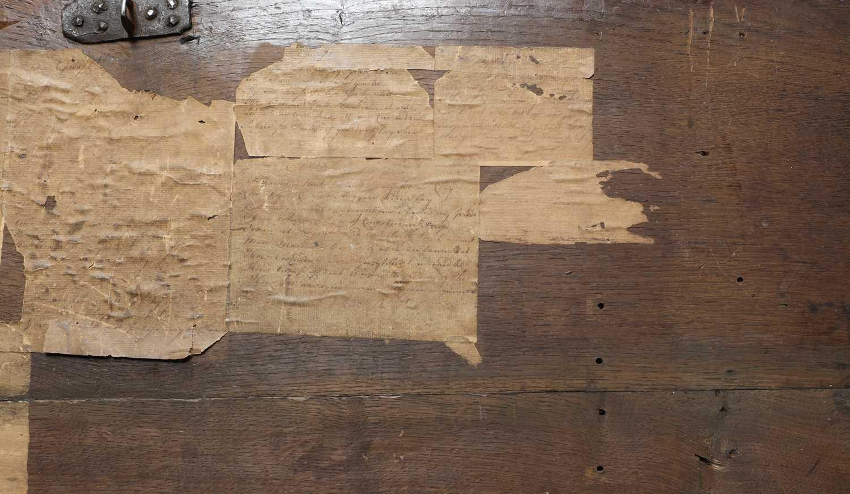 An oak coffer, - Image 6 of 6
