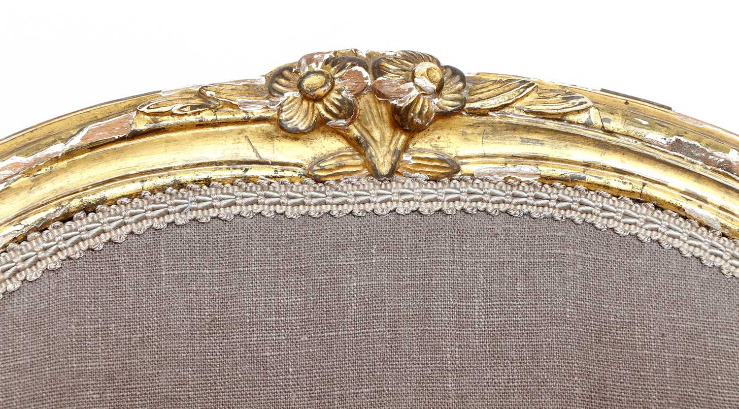A pair of gilt-framed Louis XV-style armchairs, - Image 6 of 8