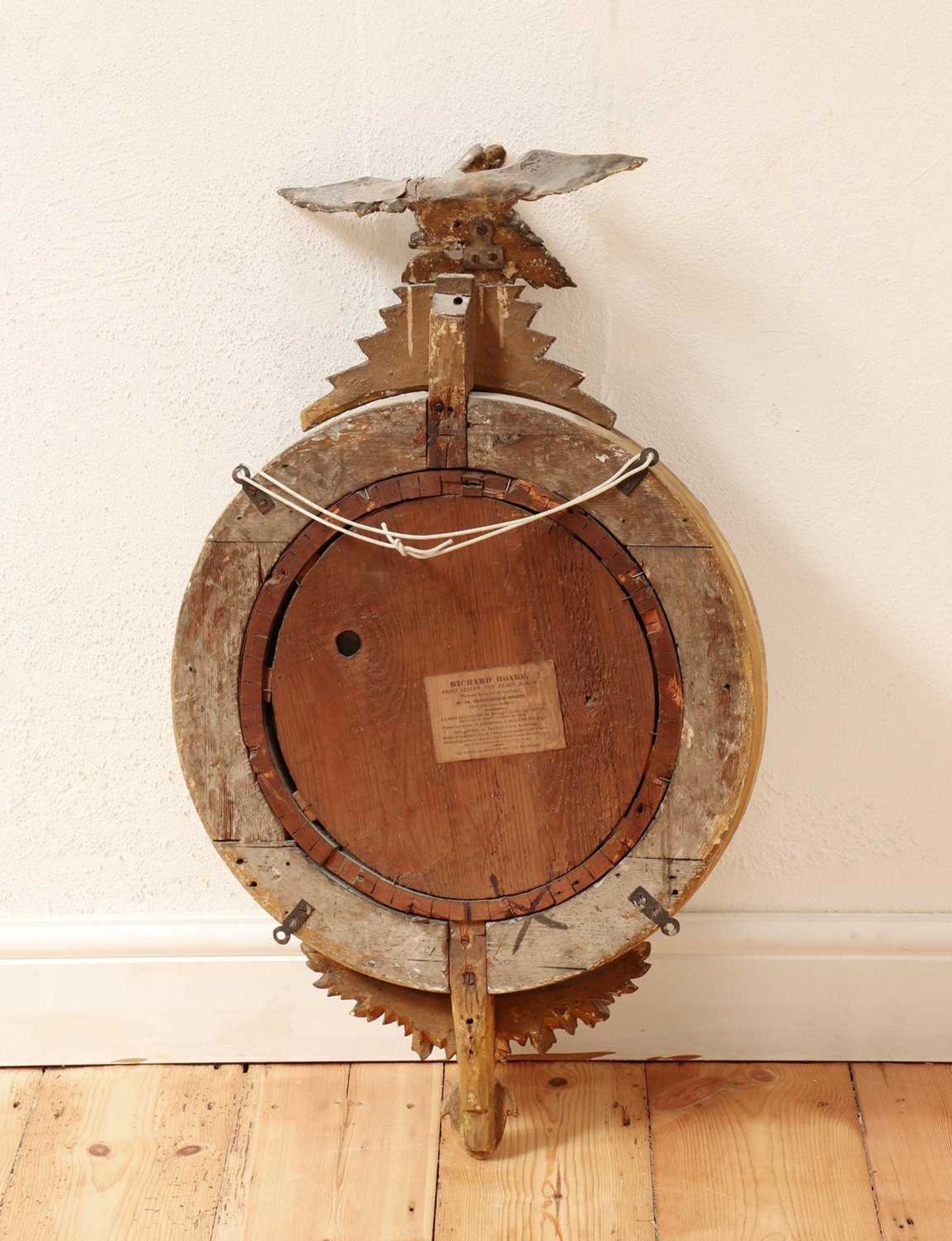 A Regency giltwood convex mirror, - Image 3 of 3