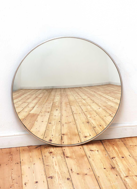 A convex wall mirror,