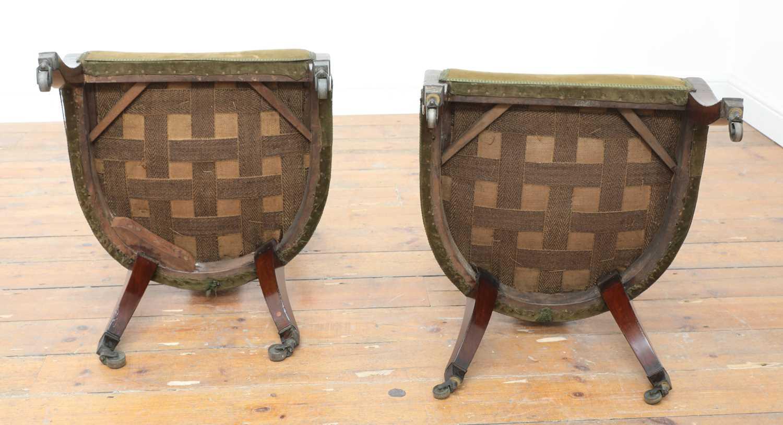 A pair of Regency mahogany klismos chairs, - Image 7 of 67