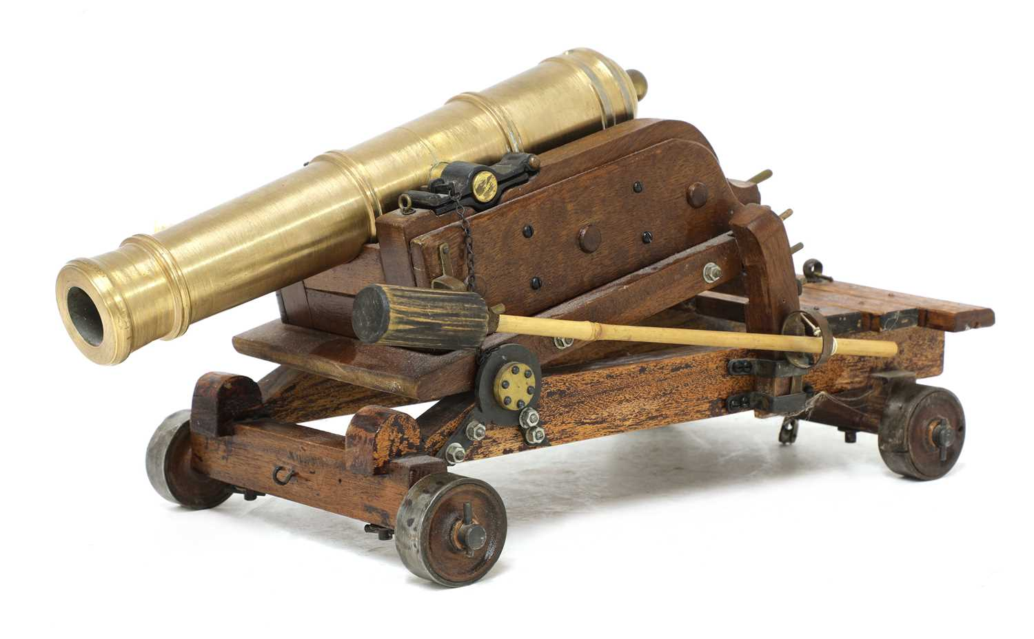 A model of a late 18th century 24lb Gibraltar cannon,