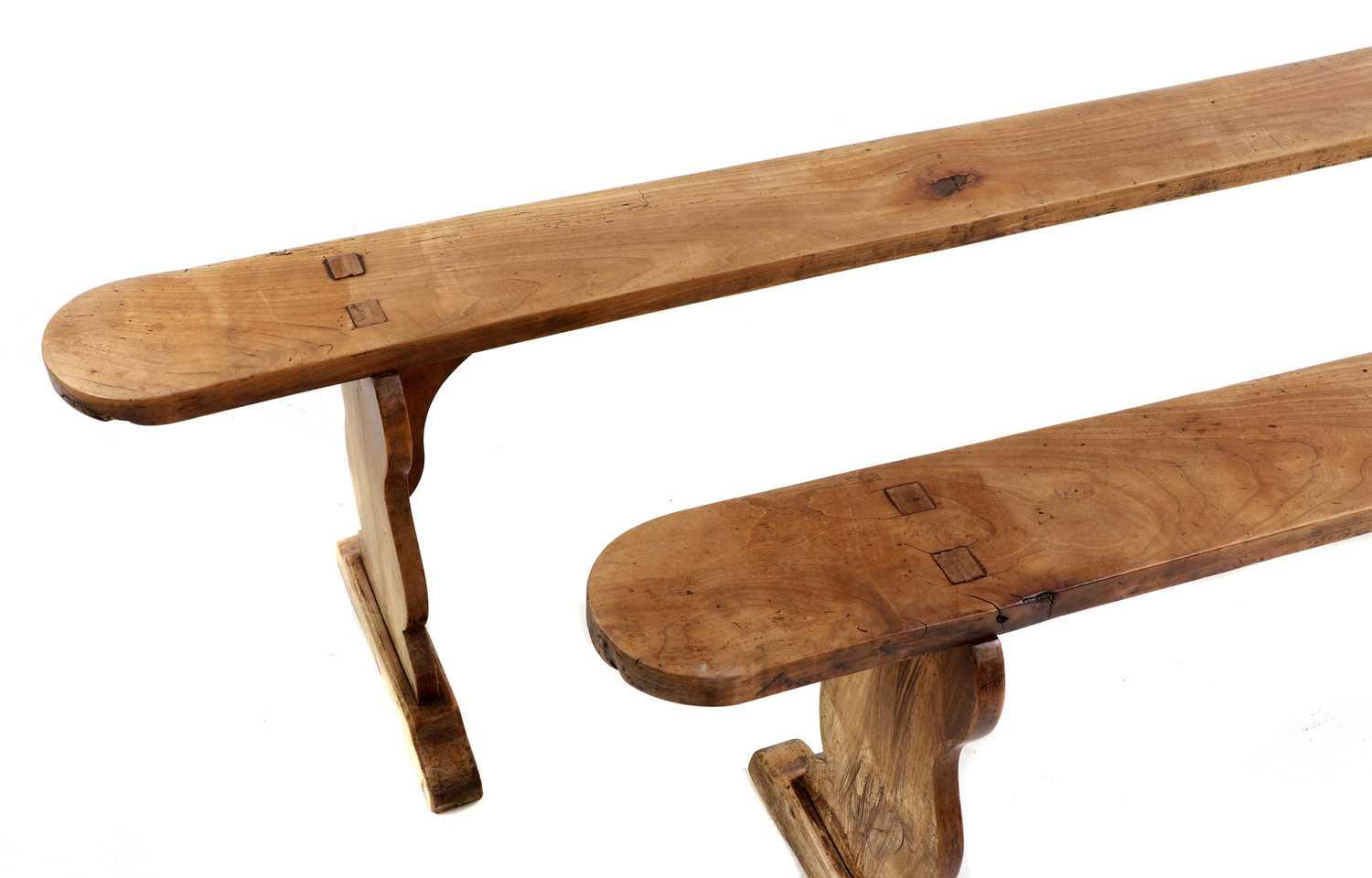 A French provincial sycamore kitchen table, - Image 9 of 10