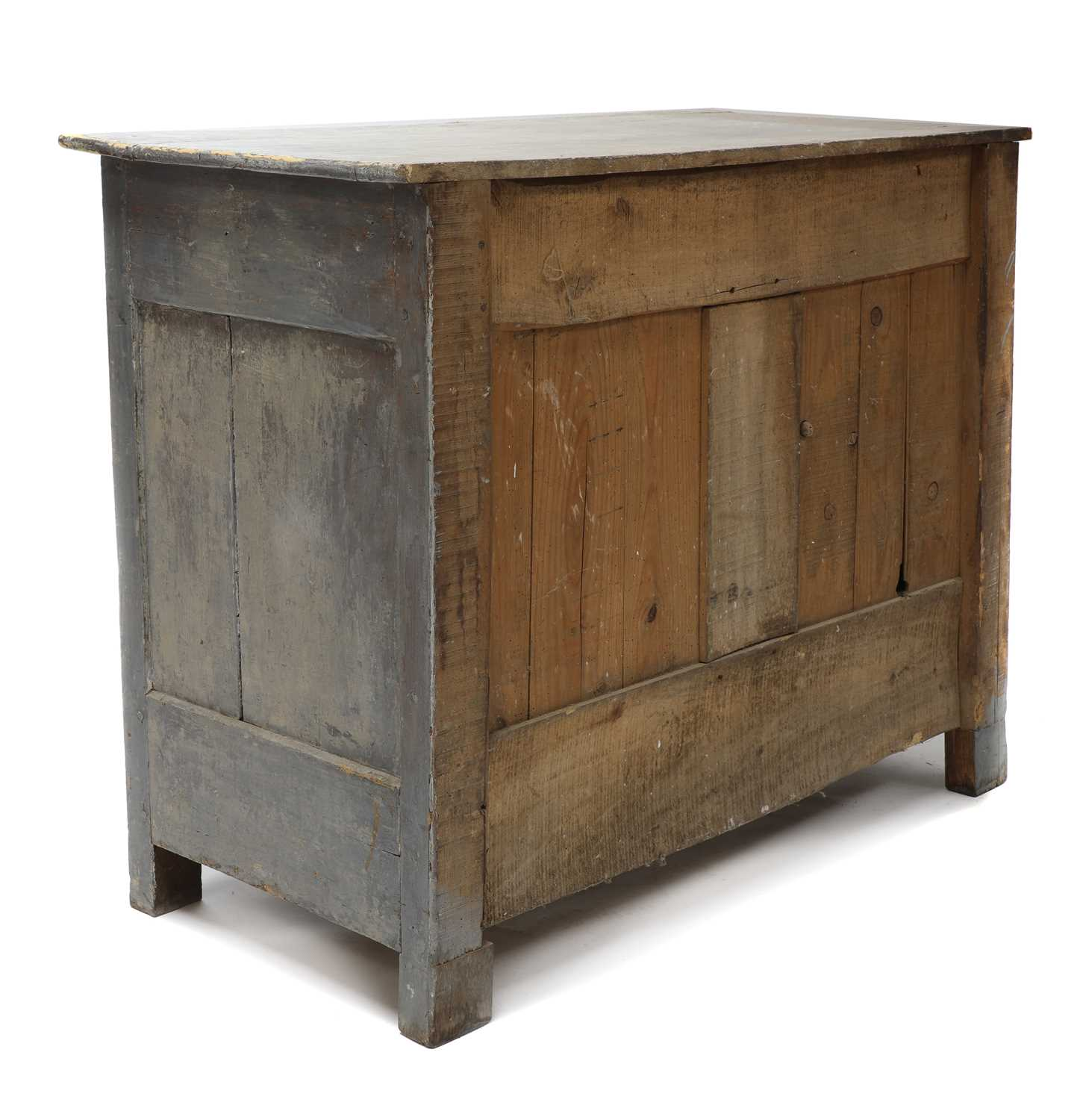 A French grey-painted cupboard, - Image 4 of 4