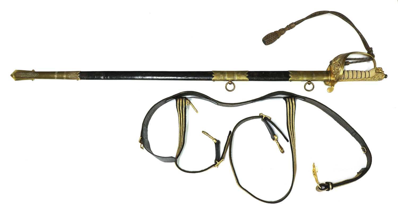 A George VI Royal Navy officer's sword,
