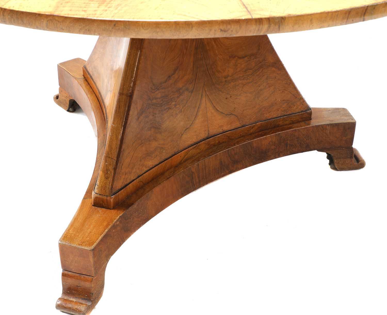 A walnut Biedermeier centre table, - Image 2 of 9