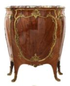 A French Louis XV-style amaranth and kingwood meuble d'appui,