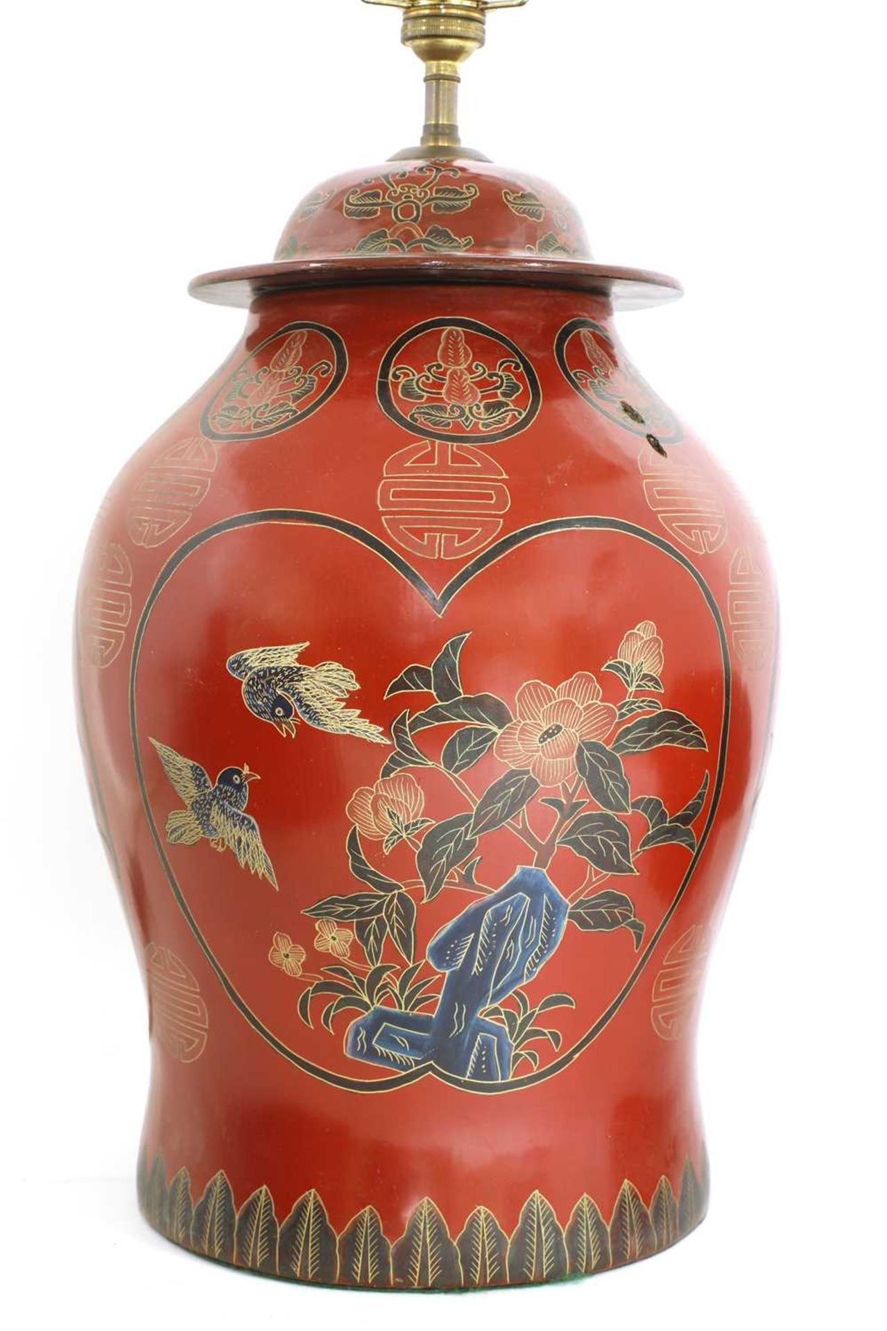 A Chinese red-lacquered food carrier, - Image 6 of 7