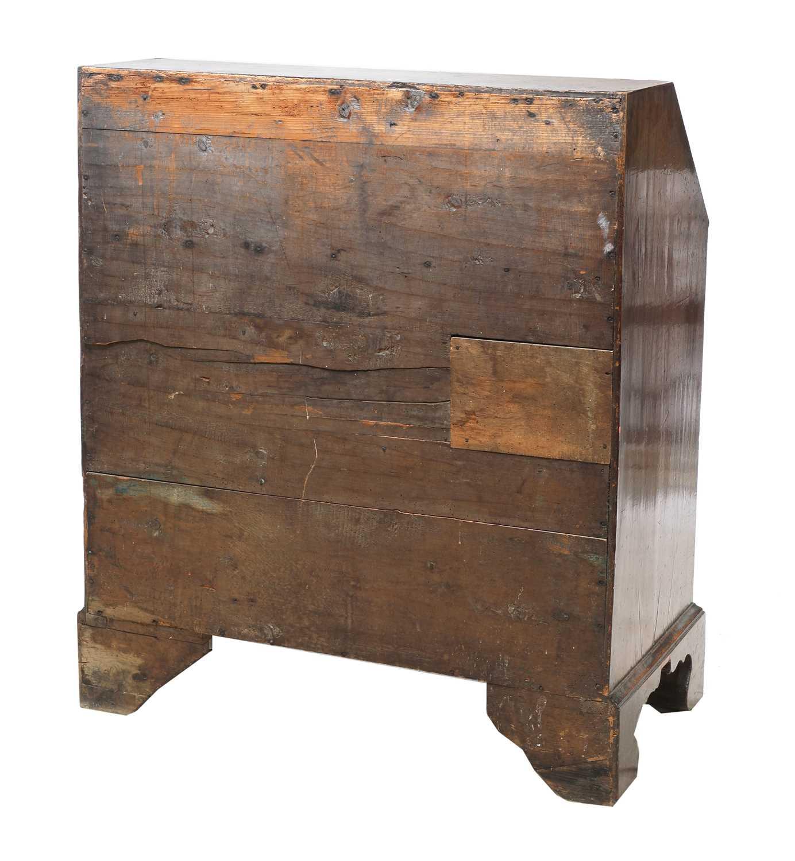 A George III mahogany bureau, - Image 4 of 4