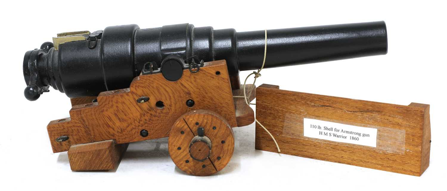 A model of an 1860 breech-loading Armstrong RBL 7in naval gun, - Image 5 of 5