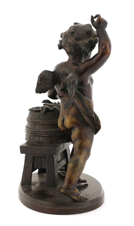 A bronze of a bacchanalian cherub, - Image 2 of 4