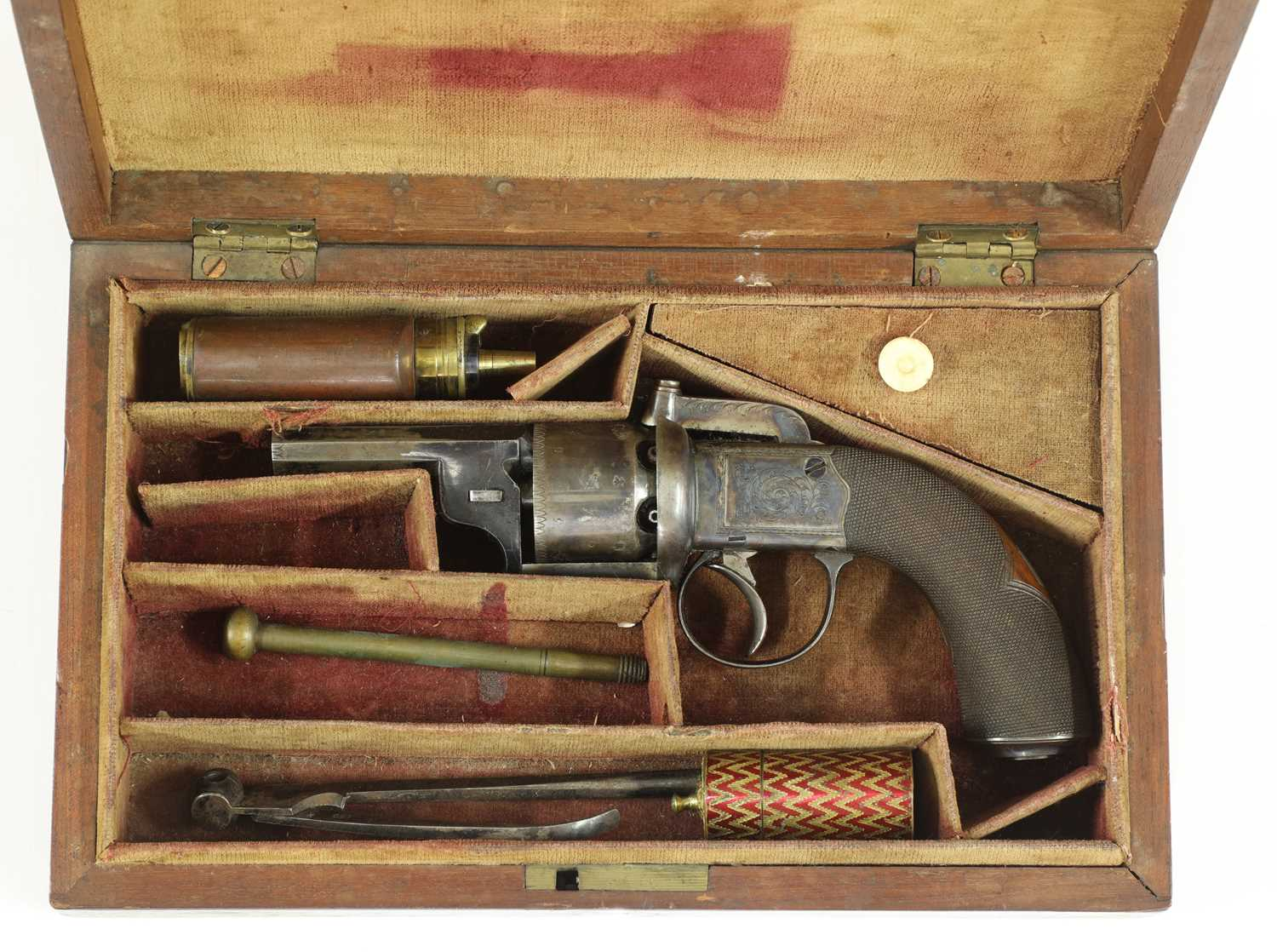 A cased percussion transitional six-shot revolver, - Image 2 of 9
