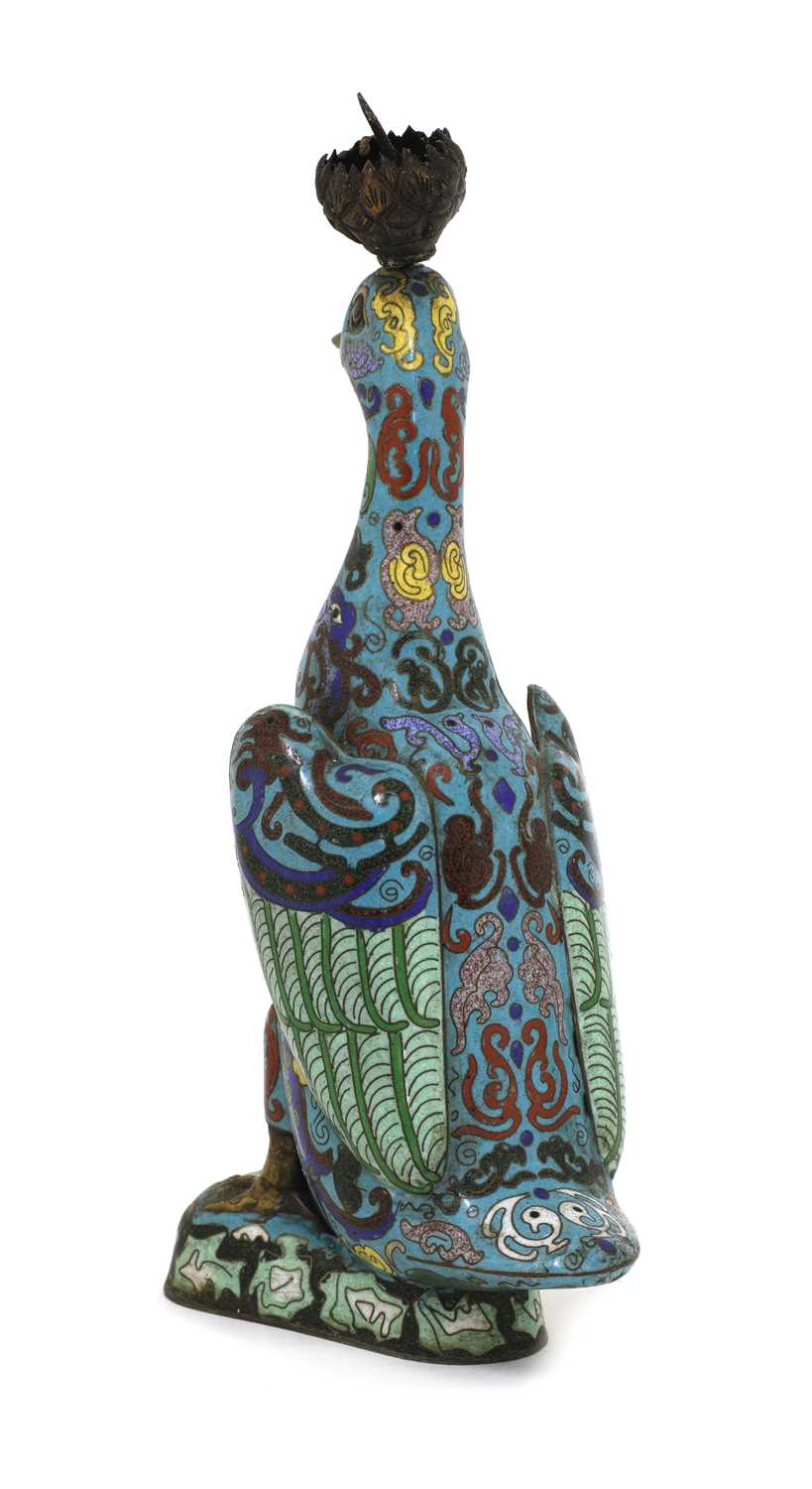 A Chinese cloisonné duck, - Image 3 of 4