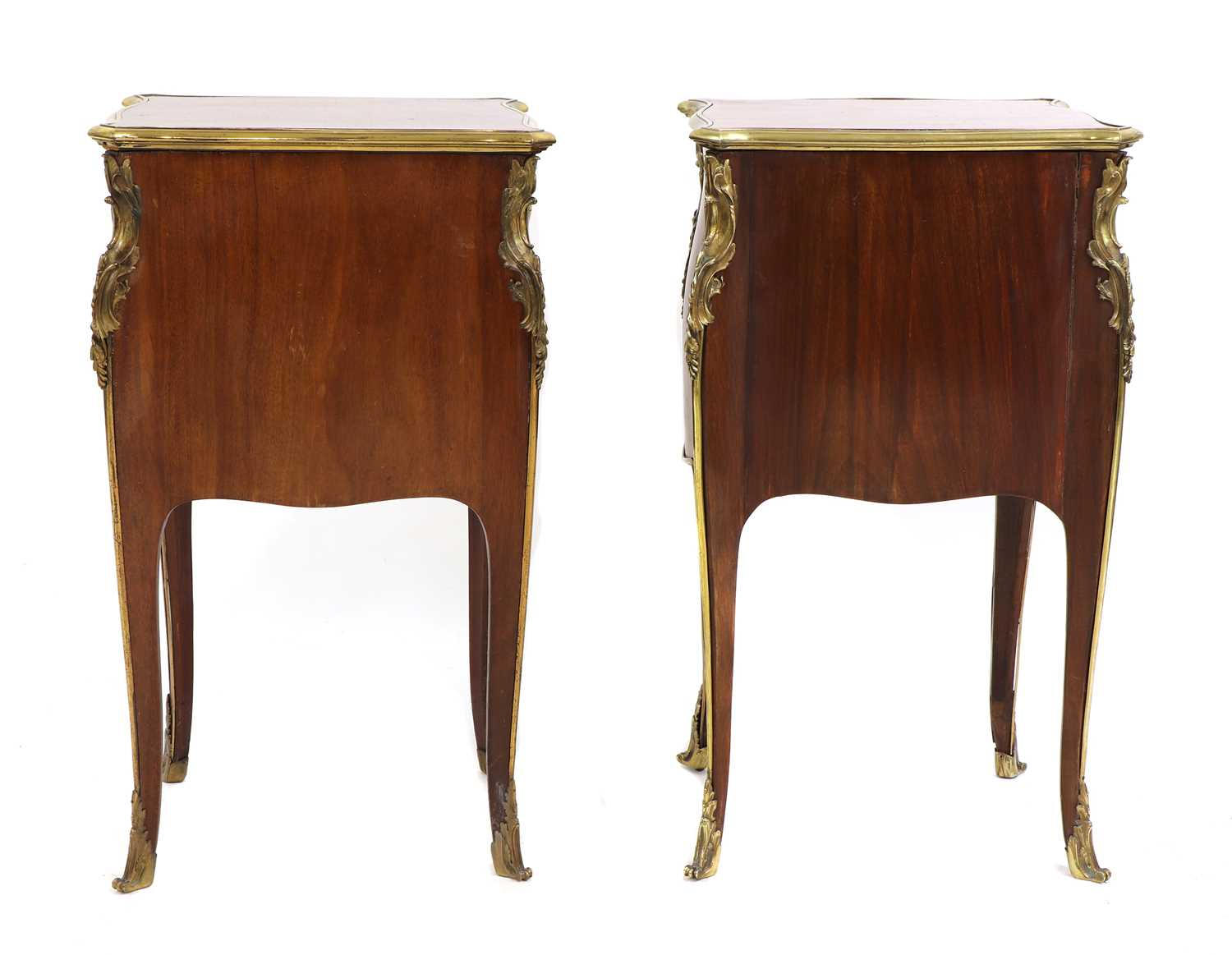 A pair of French Louis XV-style kingwood and ormolu night tables, - Image 4 of 9