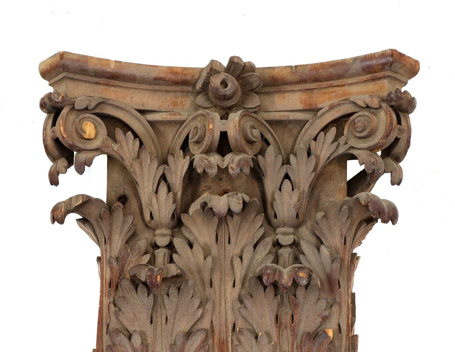 A pair of fluted pitch pine pilasters, - Image 4 of 10