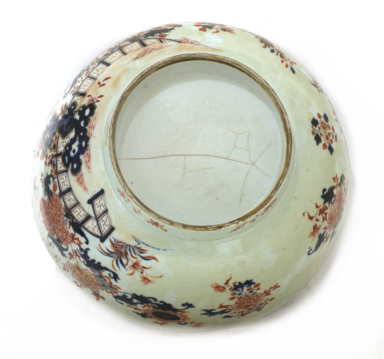 A large Chinese Imari punchbowl, - Image 6 of 6