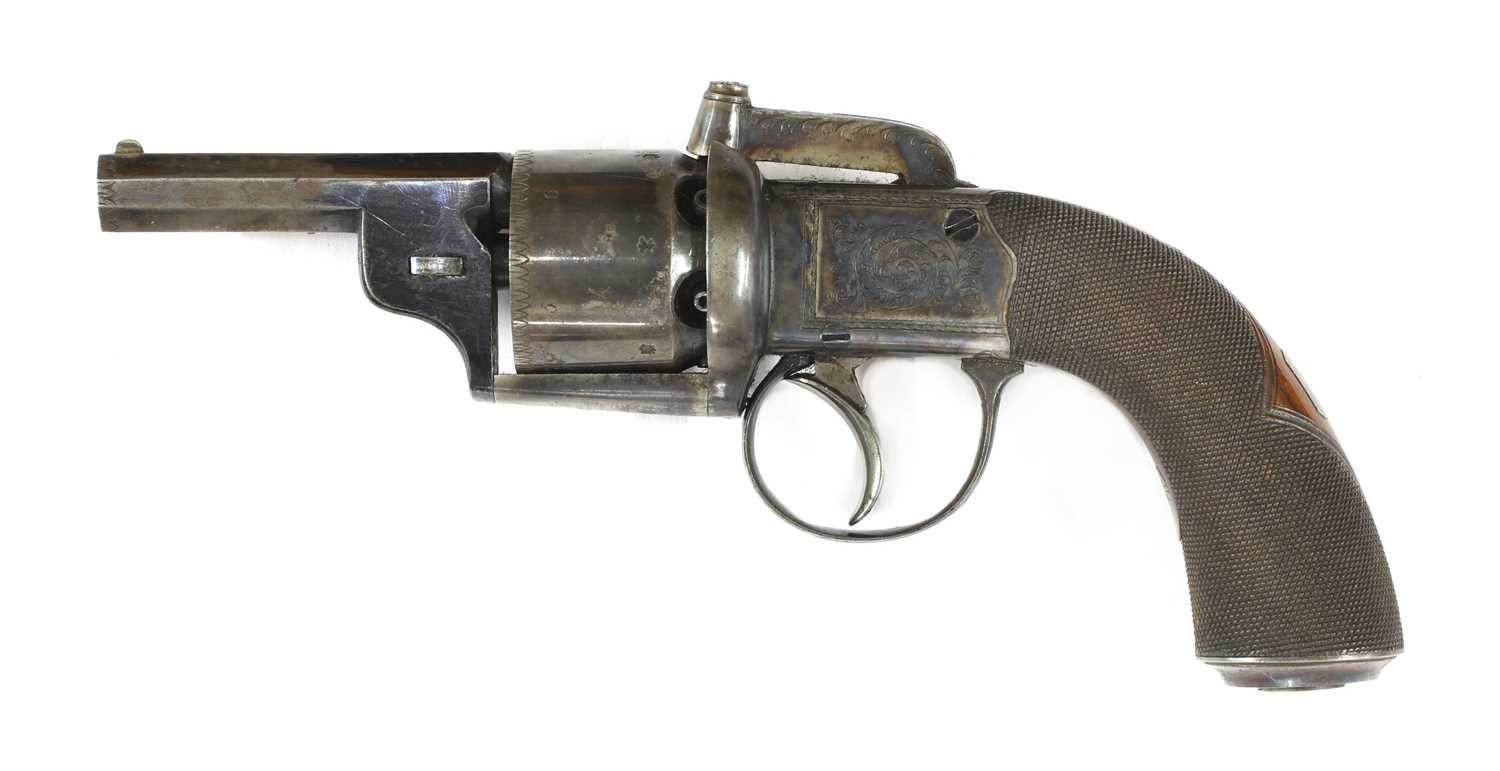 A cased percussion transitional six-shot revolver, - Image 4 of 9