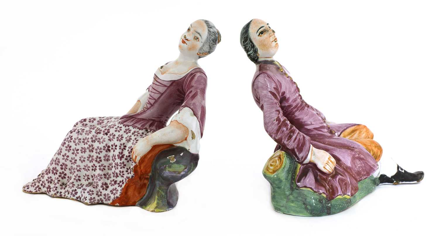 A pair of Niderviller faience figures, - Image 2 of 4