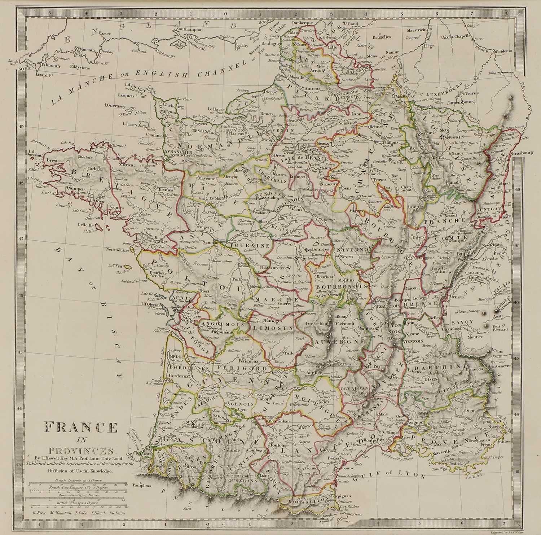 A set of four old maps of Paris, the Environs of Paris, Bordeaux and Toulon, - Image 17 of 25