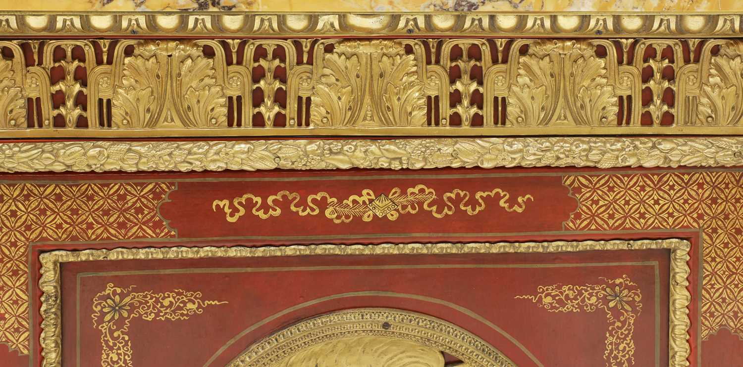A red-lacquered and ormolu-mounted pier cabinet, - Image 6 of 16