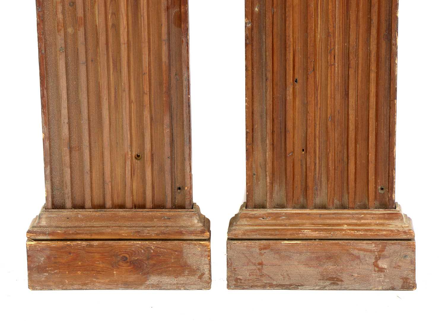 A pair of fluted pitch pine pilasters, - Image 3 of 10