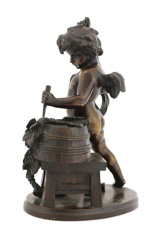 A bronze of a bacchanalian cherub, - Image 3 of 4