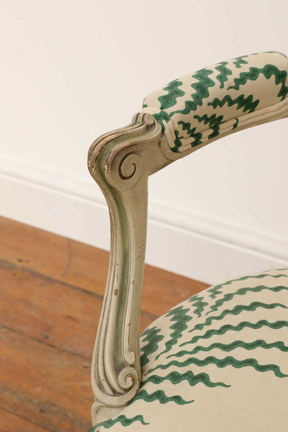 A French Louis XVI-style painted fauteuil, - Image 5 of 7