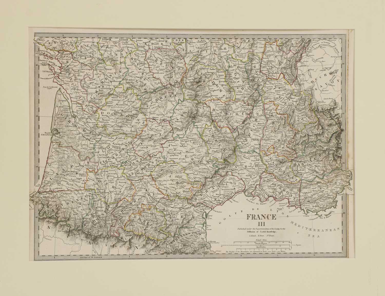 A set of four old maps of Paris, the Environs of Paris, Bordeaux and Toulon, - Image 24 of 25