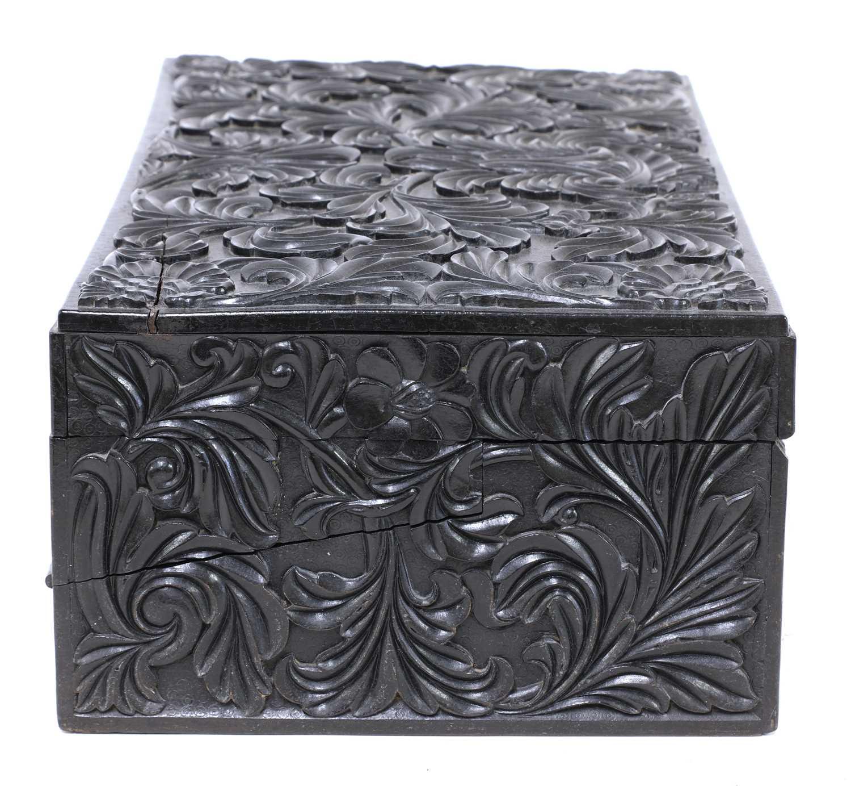 A Ceylonese ebony writing box, - Image 4 of 5