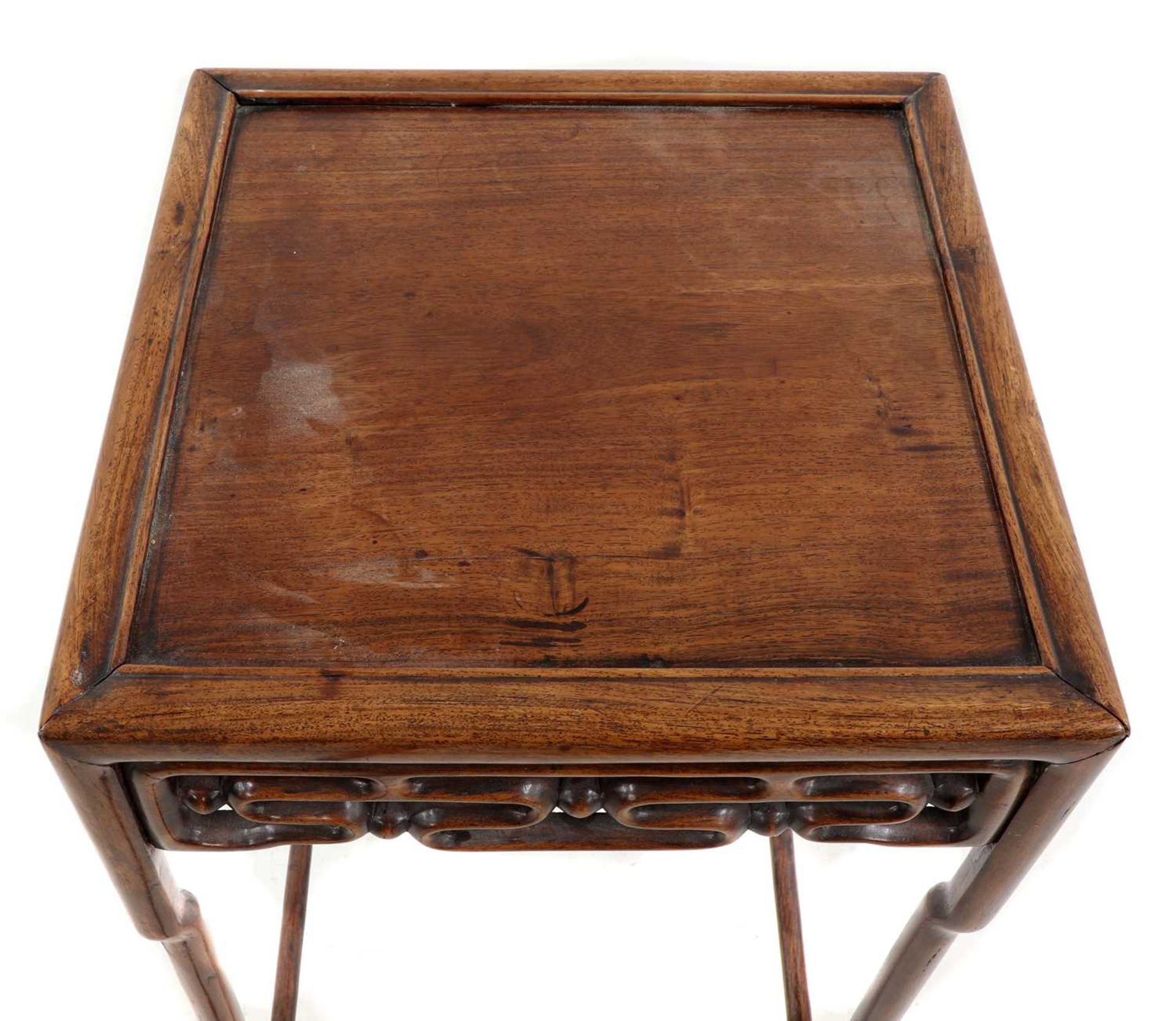 A Chinese hardwood side table, - Image 4 of 5