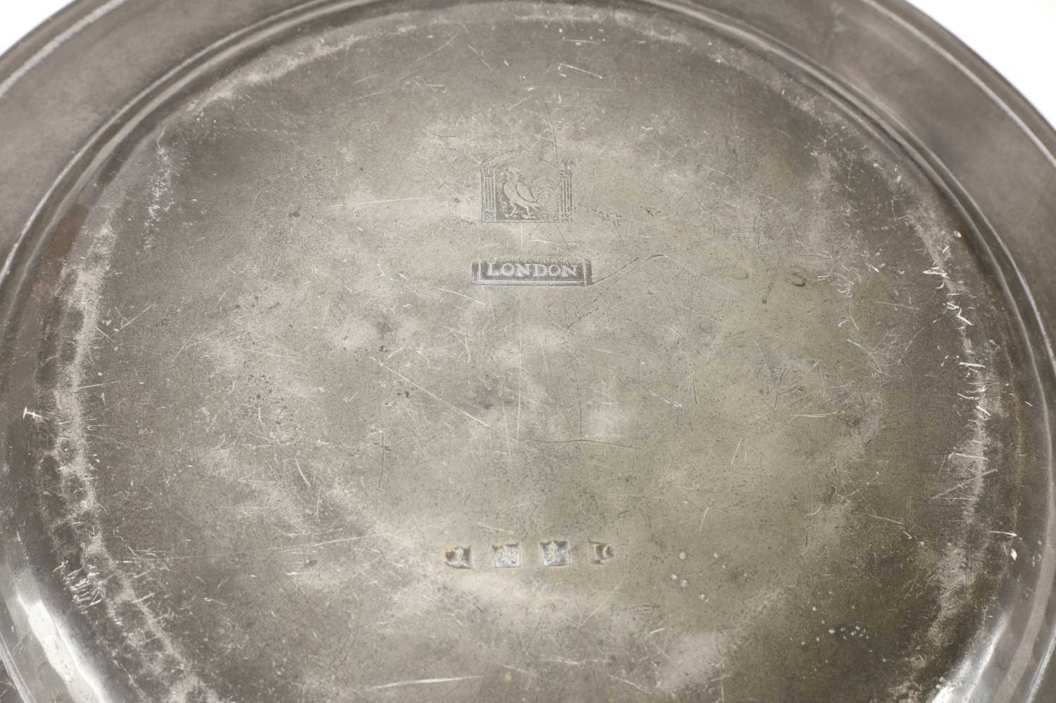 Eight pewter plates, - Image 4 of 5