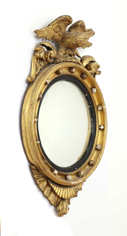 A Regency period circular gilt eagle wall mirror, - Image 3 of 4