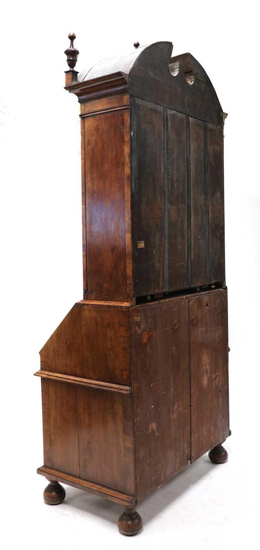 A walnut bureau bookcase, - Image 7 of 7
