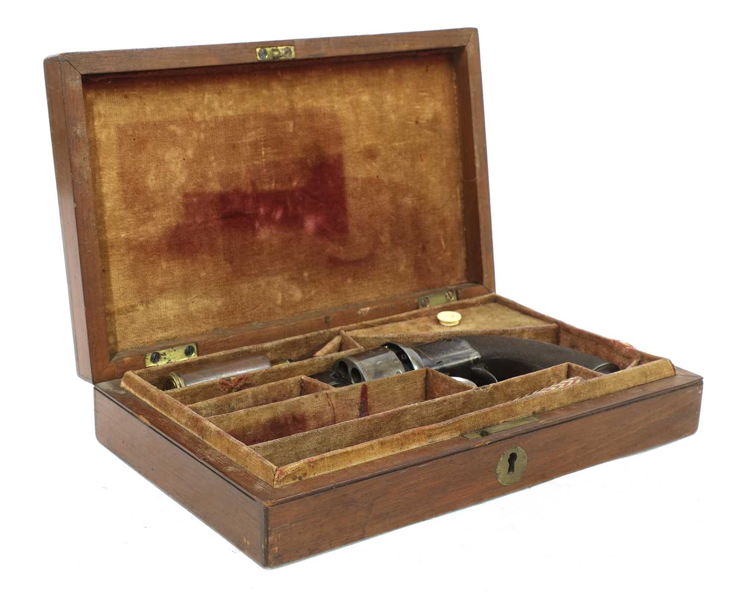 A cased percussion transitional six-shot revolver, - Image 3 of 9