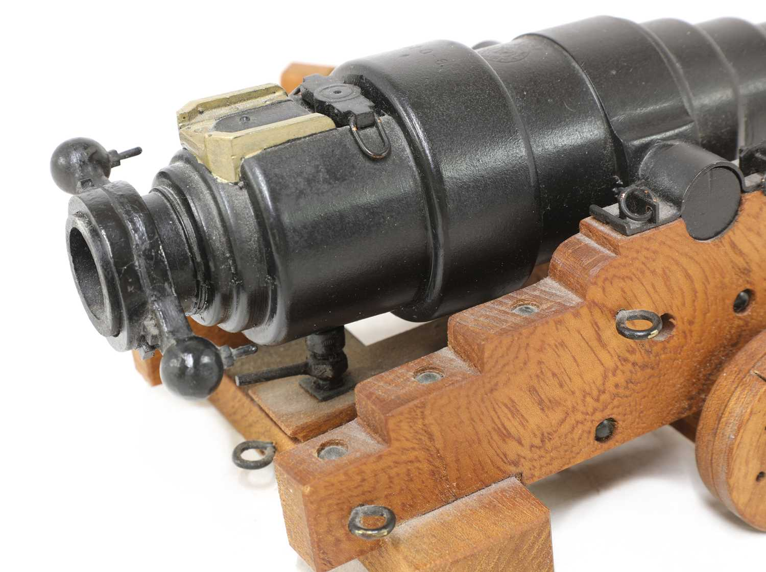 A model of an 1860 breech-loading Armstrong RBL 7in naval gun, - Image 4 of 5