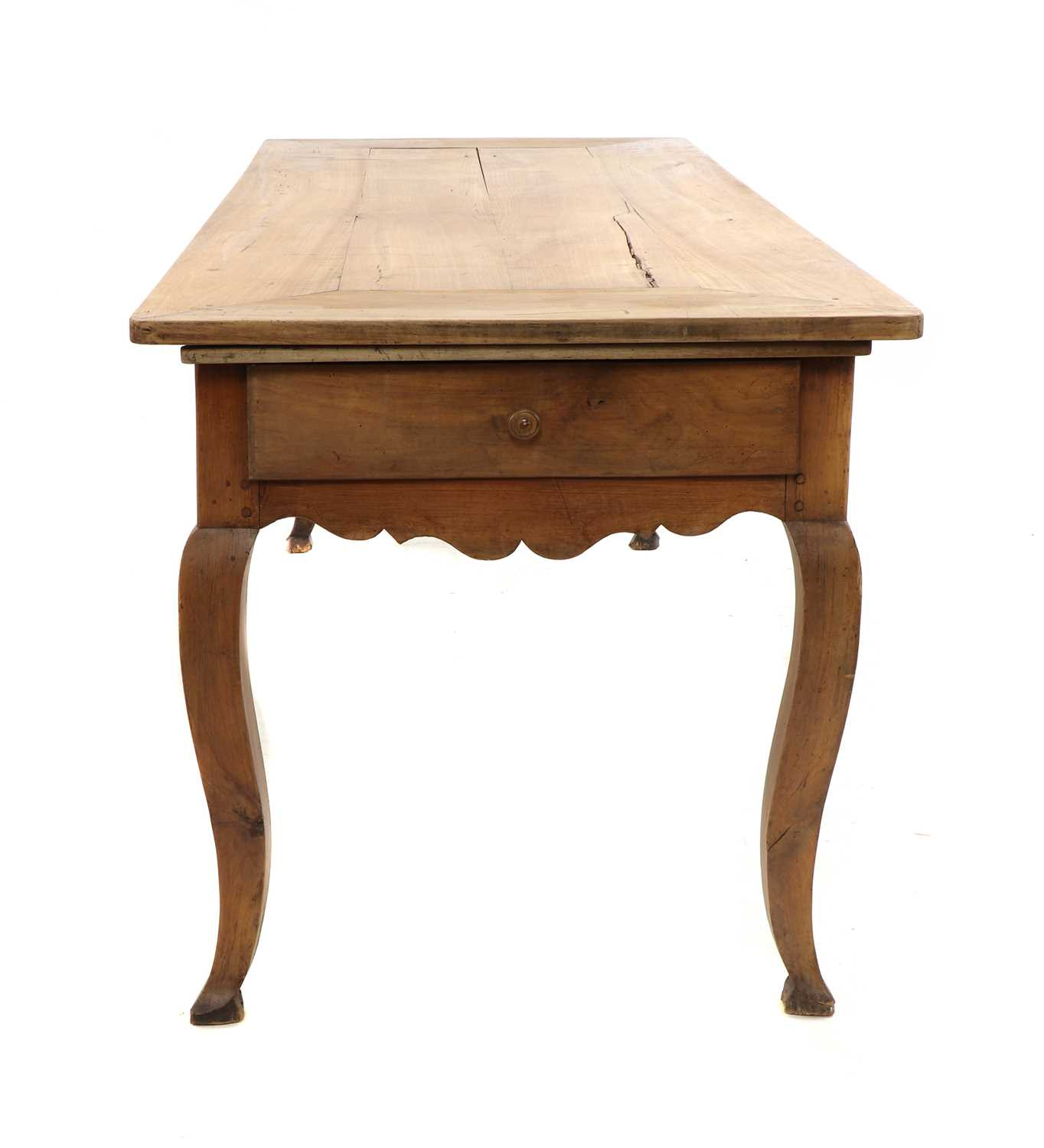 A French provincial sycamore kitchen table, - Image 5 of 10