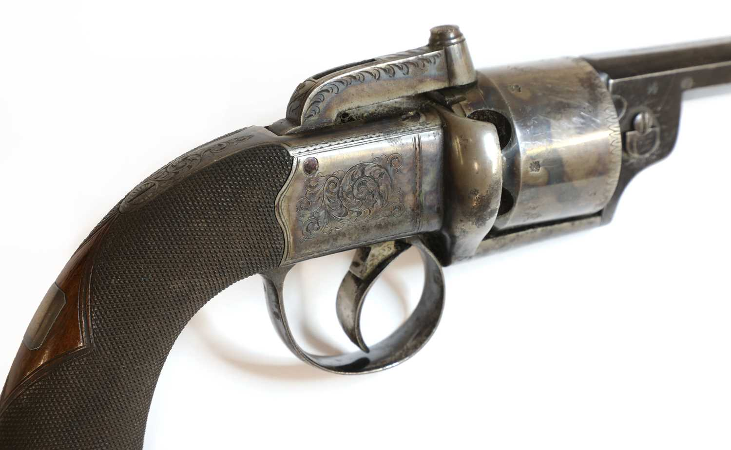 A cased percussion transitional six-shot revolver, - Image 5 of 9