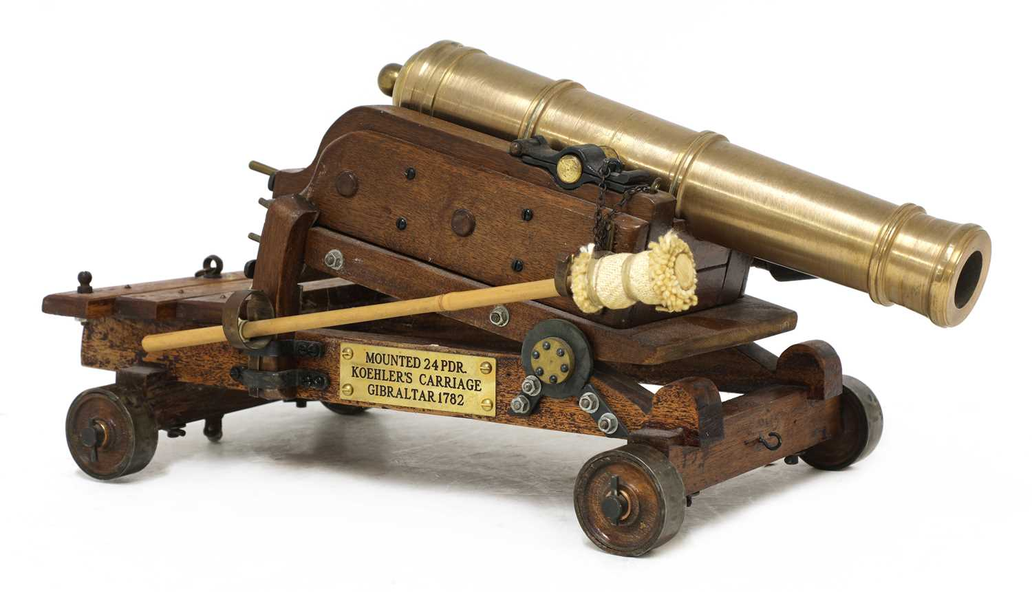 A model of a late 18th century 24lb Gibraltar cannon, - Image 4 of 6