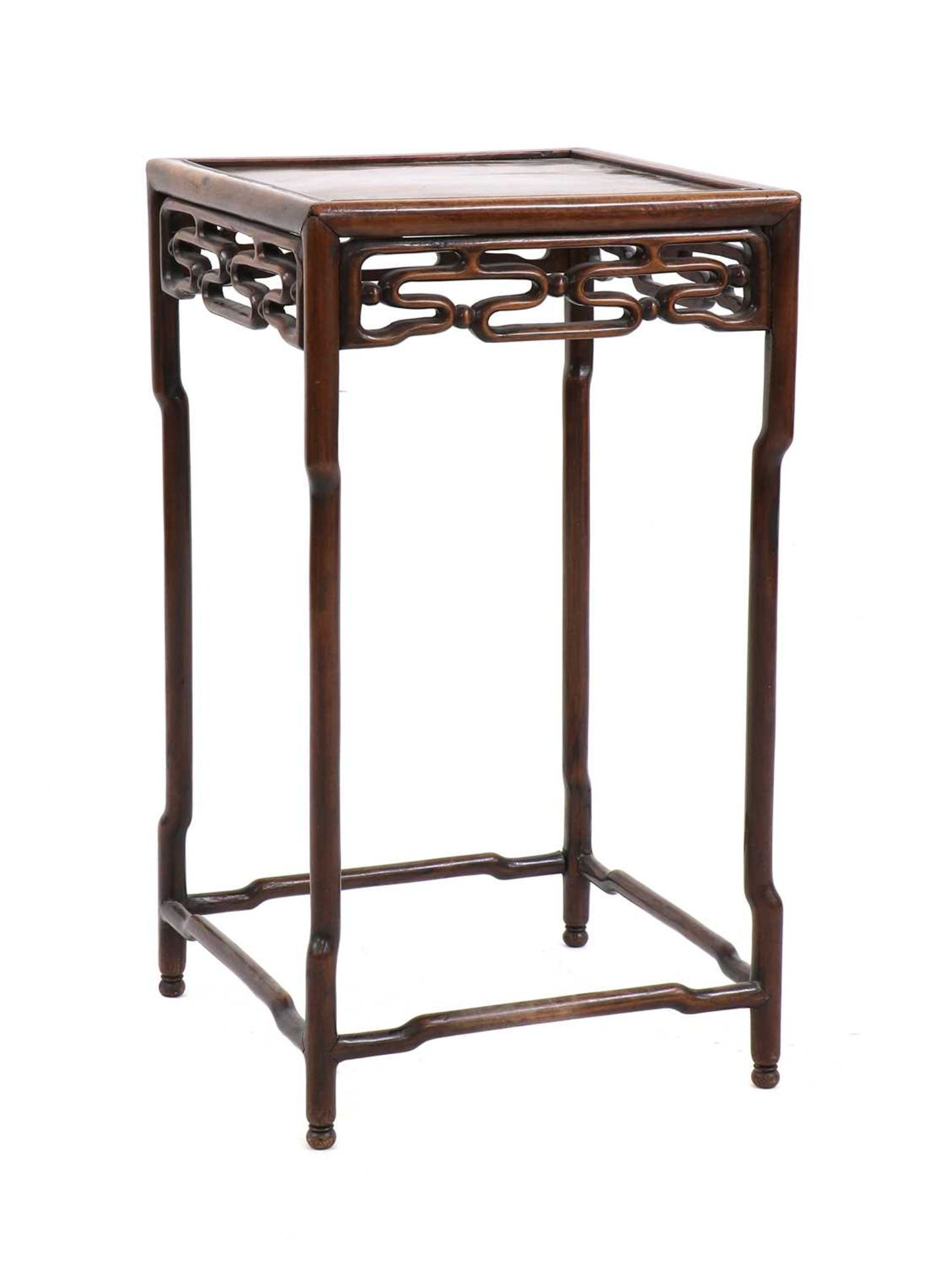 A Chinese hardwood side table, - Image 2 of 5