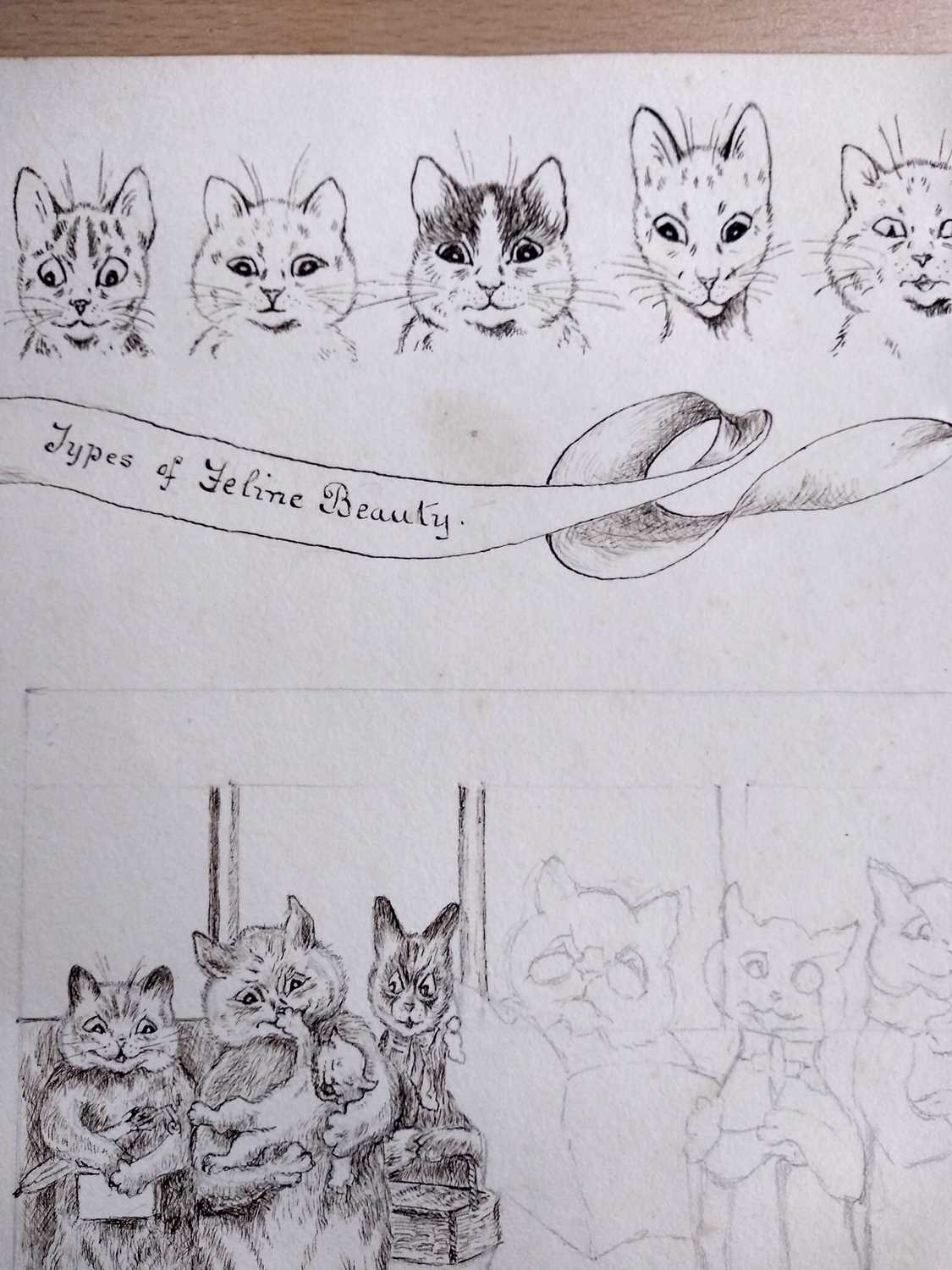 Attributed to Louis Wain (1860-1939) - Image 4 of 8