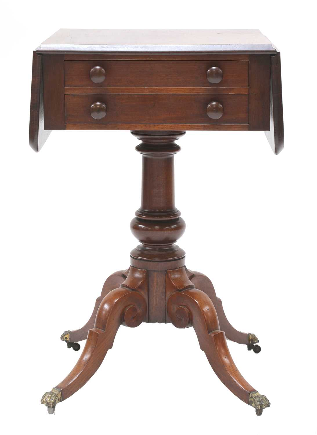 A Victorian mahogany worktable, - Image 2 of 4