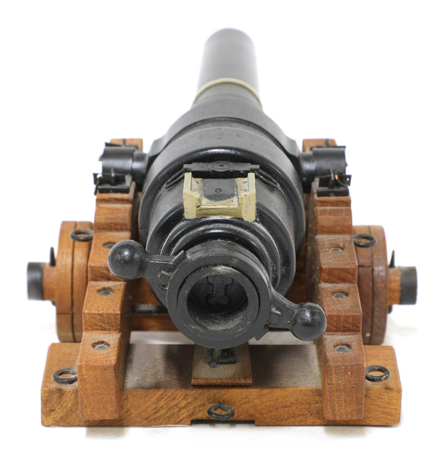 A model of an 1860 breech-loading Armstrong RBL 7in naval gun, - Image 2 of 5