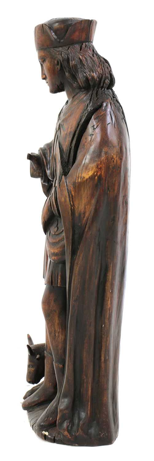 An Austrian carved wood figure of a hunter, - Image 3 of 4