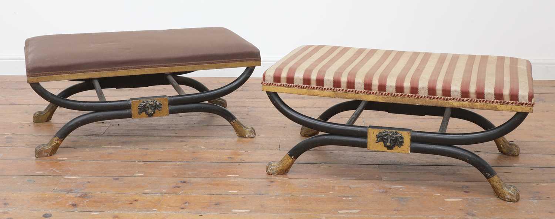 A pair of stools,