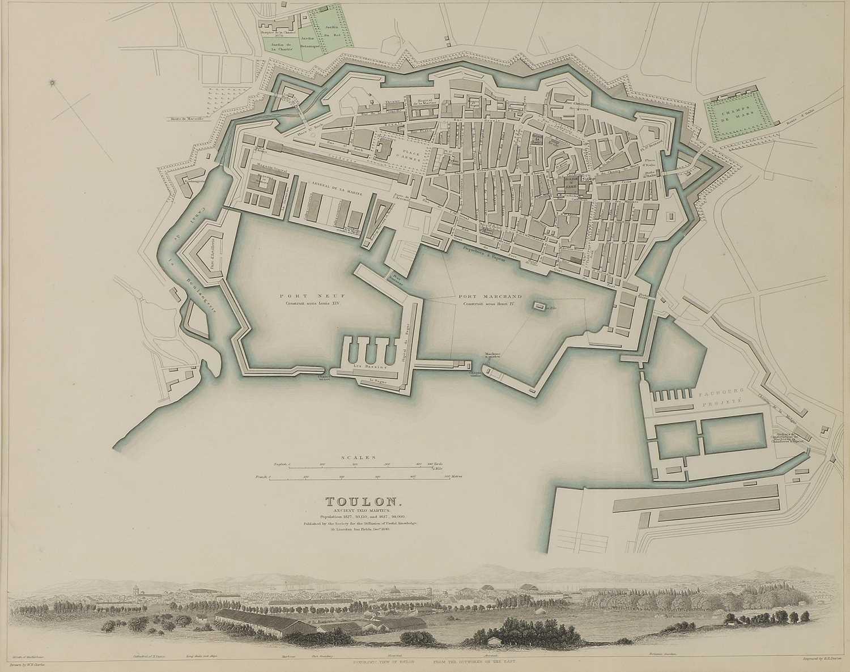 A set of four old maps of Paris, the Environs of Paris, Bordeaux and Toulon, - Image 6 of 25