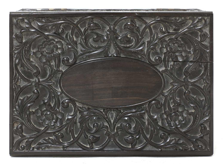 A Ceylonese ebony box, - Image 5 of 5