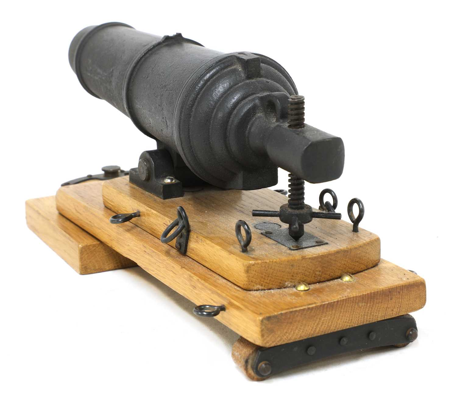 A model of a late 18th century naval carronade, - Image 3 of 5